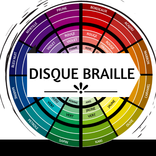 Cercle des couleurs braille